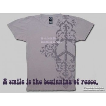 T-Shirt Peace Smiles - Femme - Medium