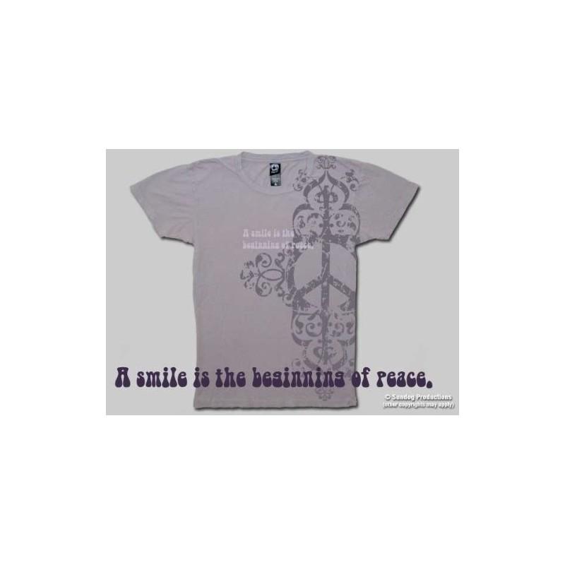T-Shirt Peace Smiles - Femme - Medium