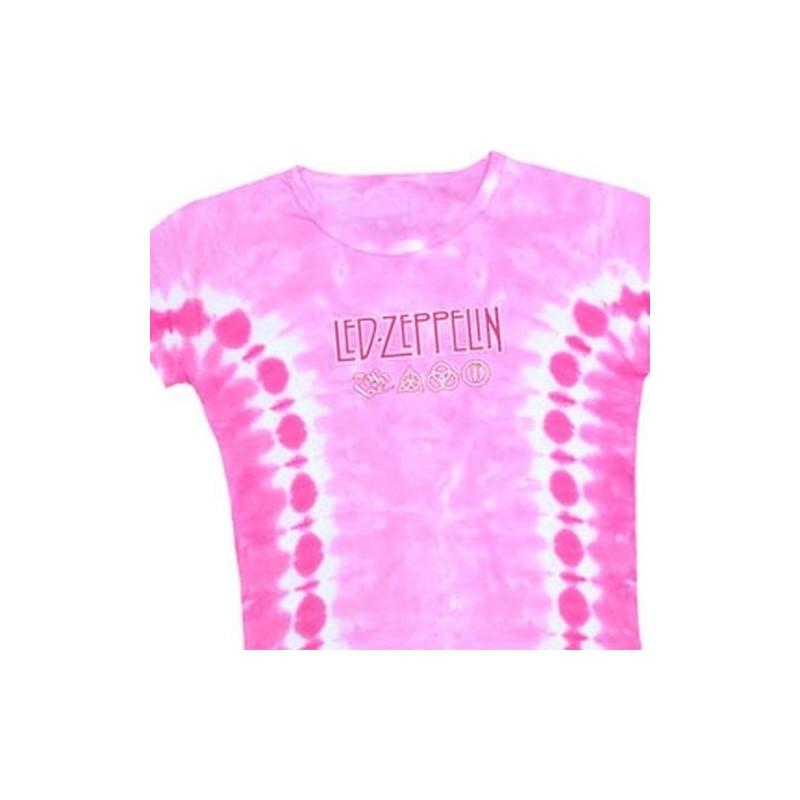 T-Shirt Led Zeppelin - Pink Logo - Femme - Small