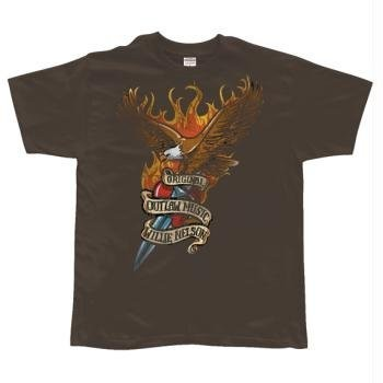 T-Shirt Wille Nelson - Eagle With Dagger - Homme - Large