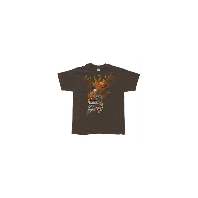 T-Shirt Wille Nelson - Eagle With Dagger - Homme – X Large