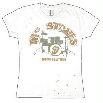 T-Shirt Rolling Stones - Drums 1976 - Femme - Medium