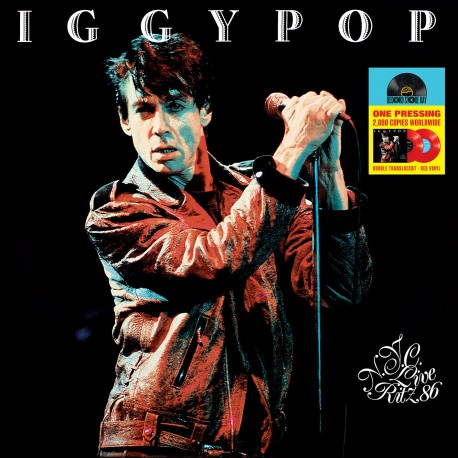 Iggy Pop - 33 Tours - Live At The Ritz 1986 (Vinyle Rouge) - RSD 2018