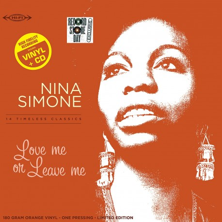 Nina Simone -      33 Tours - Love Me Or Leave Me (Vinyle Orange + CD) - RSD 2018