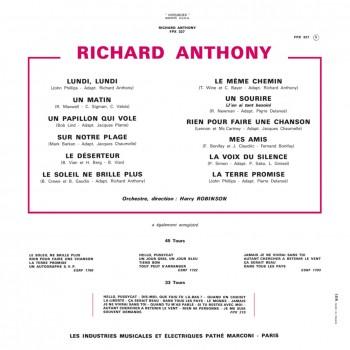 CD - Richard Anthony - La Terre Promise
