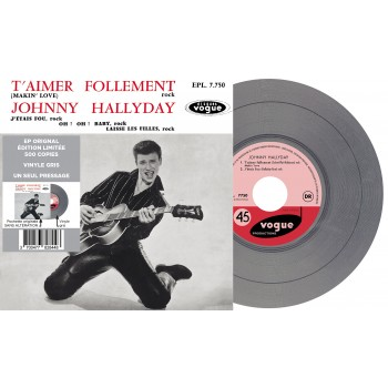 Johnny Hallyday - EP N°01 - T'aimer Follement (Vinyle)