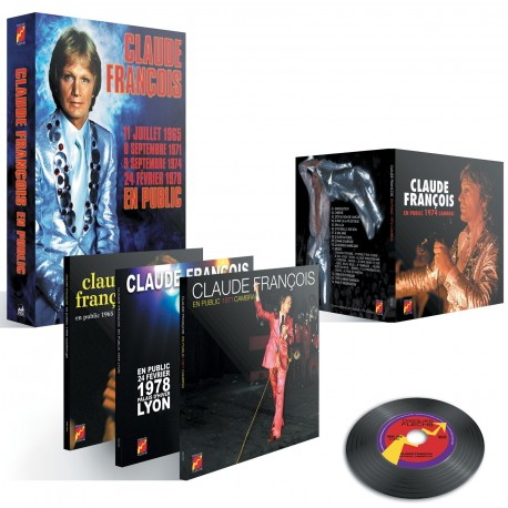 Claude François - En Public (Coffret 4 CD Vinyl Replica)