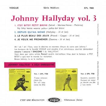 Johnny Hallyday - EP N°03 - Itsy Bitsy Petit Bikini