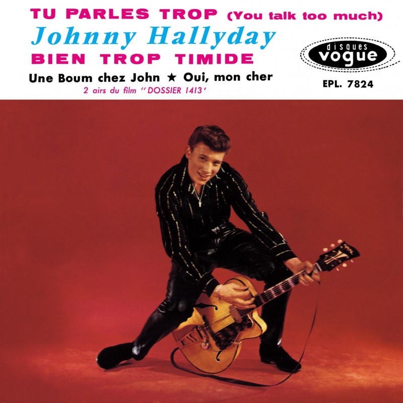 Johnny Hallyday - EP N°05 - Tu Parles Trop (CD Vinyl Replica)
