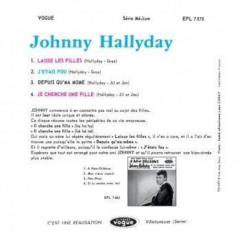 Johnny Hallyday - EP N°10 - Johnny Hallyday Chante les Filles