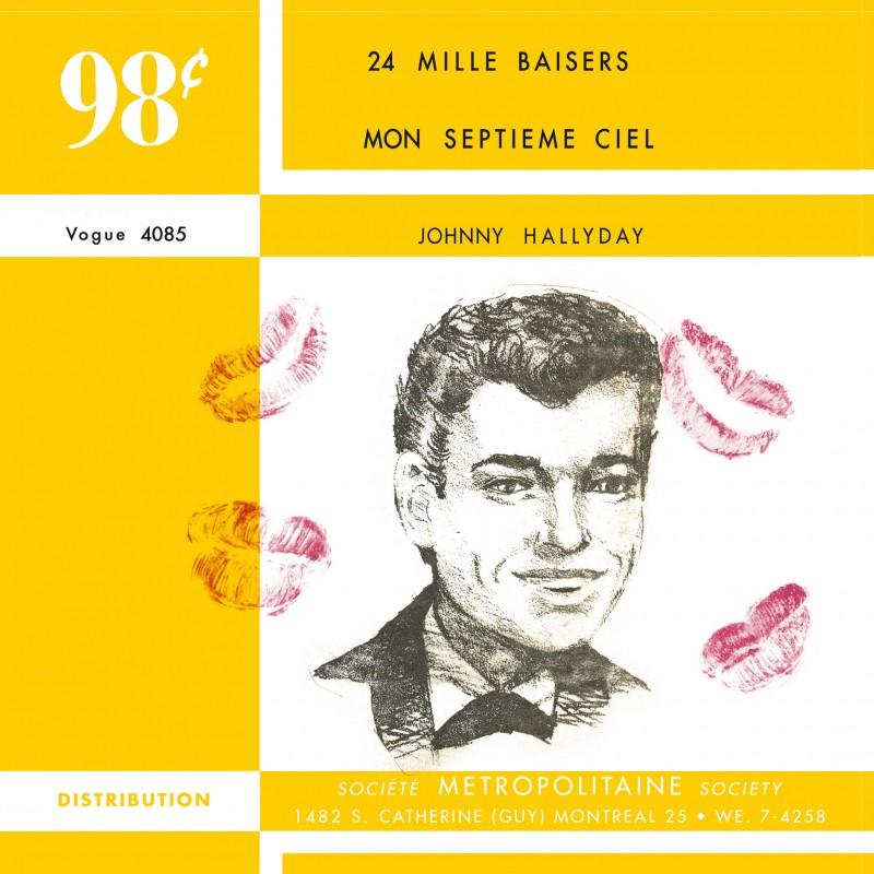 Johnny Hallyday 24 Mille Baisers Vinyle Transparent