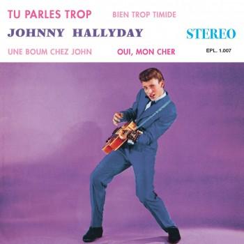 Johnny Hallyday - 45 Tours - Le P'tit Clown De Ton Coeur (Vinyle Transparent)